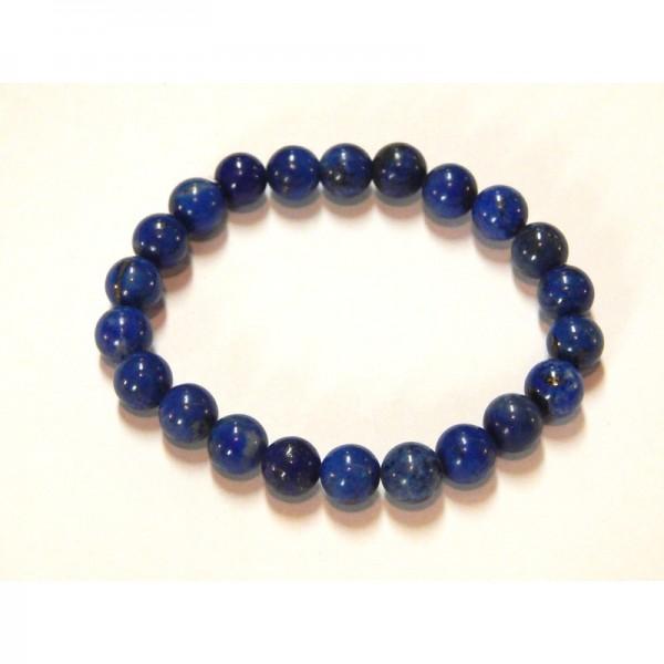 Lápisz lazuli (lazúrkő) karkötő 8 mm golyó